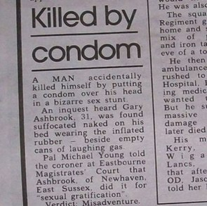 Killed by Condom